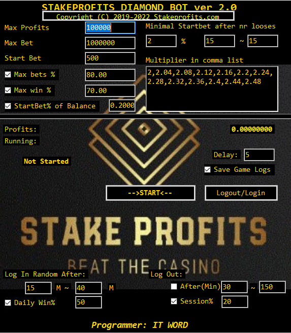 STAKEPROFITS DIAMOND GAME BOT IN STORE NOW!